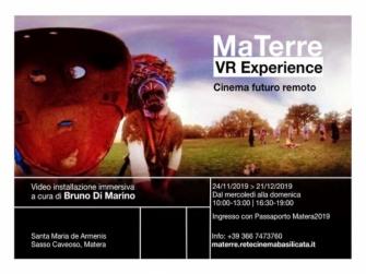 A Matera la presentazione di MaTerre VR Experience, il film che ripensa radicalmente l'immaginario cinematografico della Capitale Europea della Cultura 2019