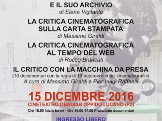 Ad Oppido una giornata di studi sulla critica cinematografica in Italia