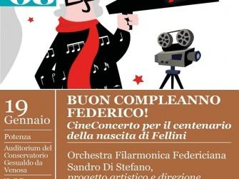 BUON COMPLEANNO FELLINI: A POTENZA IL PRIMO CINECONCERTO ITALIANO ORGANIZZATO DA AMB