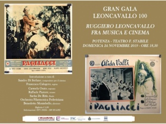LEONCAVALLO 100 TRA MUSICA E CINEMA. Potenza omaggia Ruggiero Leoncavallo nel centenario della sua morte